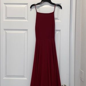 Long Maroon Lulus dress